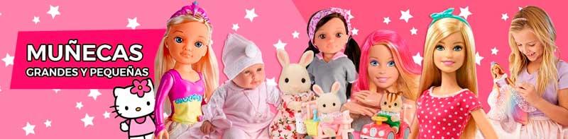 Muñecas grandes y pequeñas.
