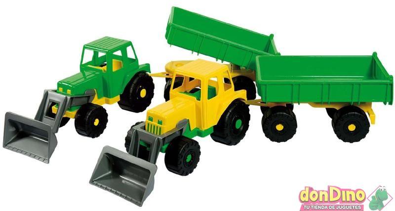 Tractor c/remolque y pala surtido