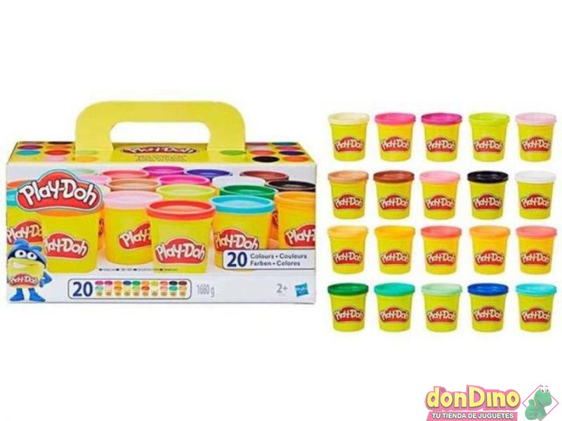 Mundo de colores 20 botes play-doh