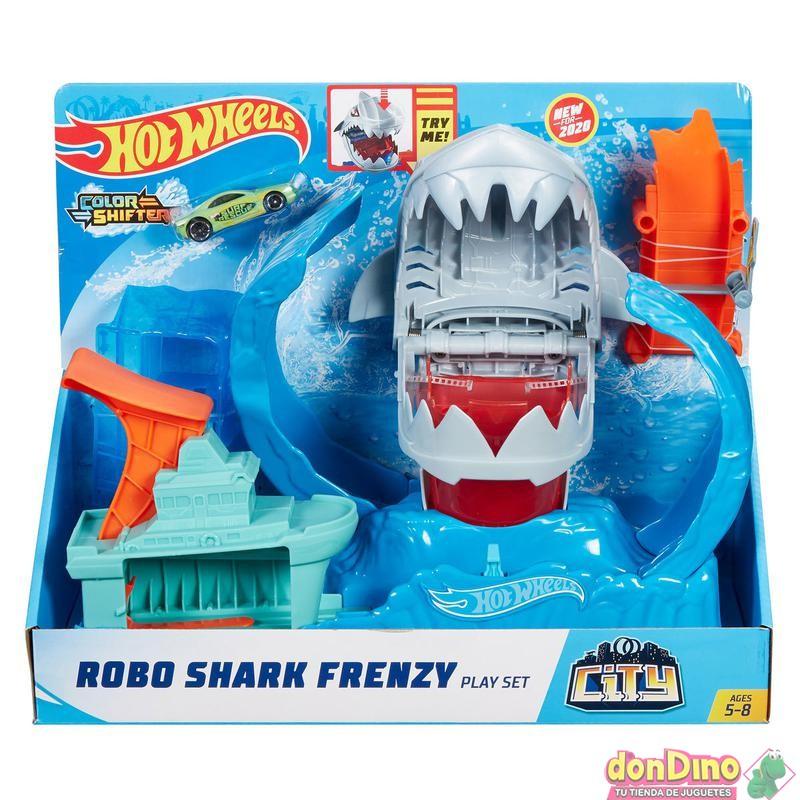 Robo shark frenetico hot wheels