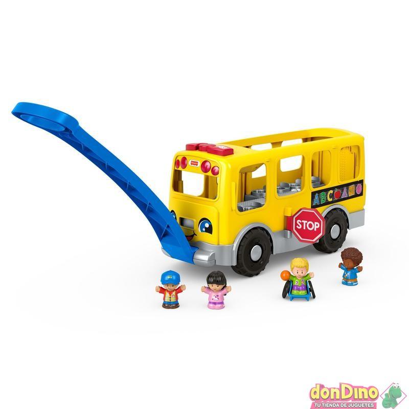 Autobus escolar grande little peopl