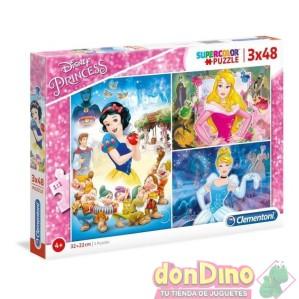 Puzzle 3x48 pzas. princesas disney