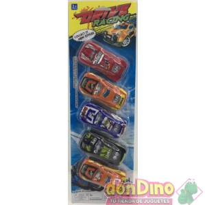 5 vehiculos drive racing blister