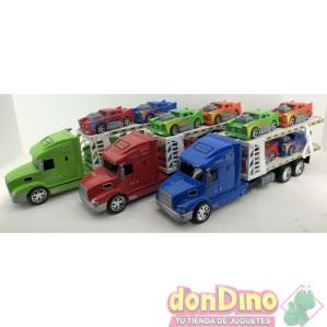 Camion porta 4 coches american 1:24