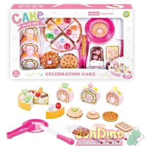 Dulces y tarta cumpleaños set