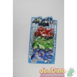 3 motos friccion colores blister