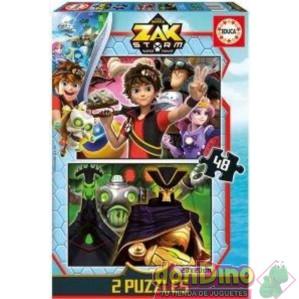 Puzzle 2x48 pzas. zak storm