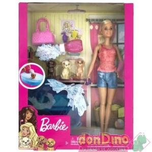 Barbie + cachorros c/accesorios