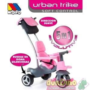 Triciclo urban trike 5 en 1 rosa