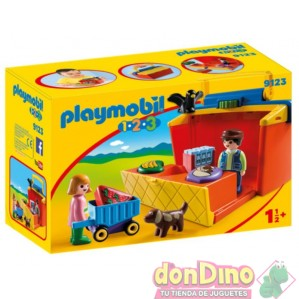 1.2.3 mercado maletin playmobil