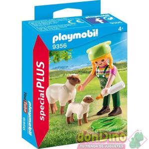 Granjera con ovejas playmobil