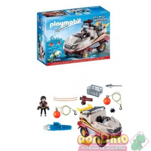 Coche anfibio playmobil city action