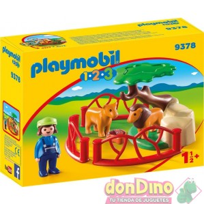Recinto leones playmobil 1.2.3