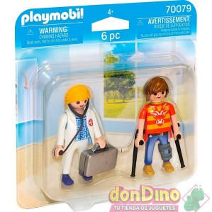 Duo pack doctora&paciente playmobil