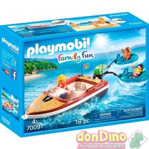 Lancha con flotadores playmobil