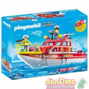 Barco rescate playmobil city action