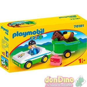 Remolque c/caballo playmobil 1.2.3