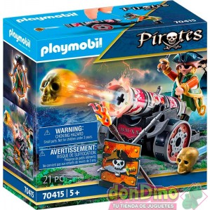 Pirata con cañon playmobil pirates