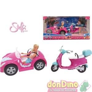 Muñeca steffi love c/coche y moto