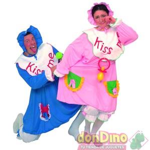 Disfraz adulto bebe rosa/azul